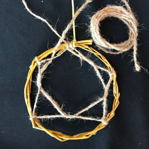 DIY Dreamcatcher Twine Weave 5 Parts