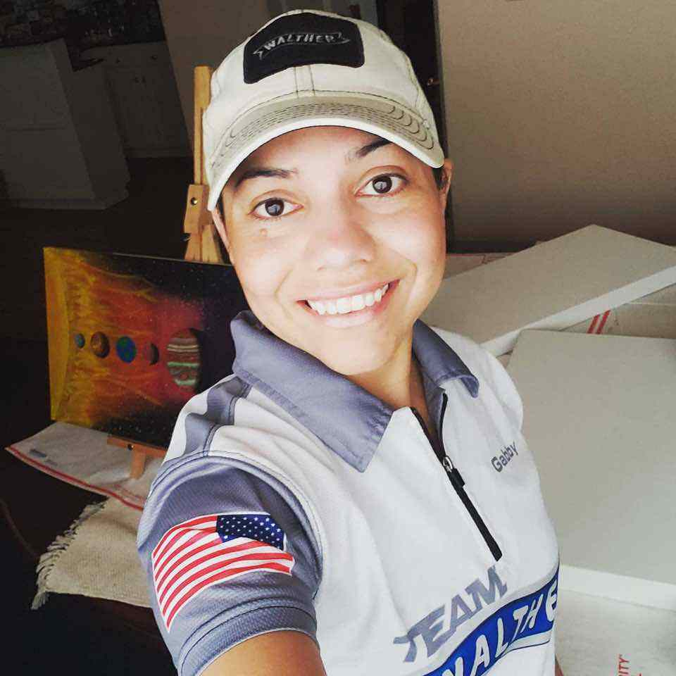Gabby Franco with Walther gear on