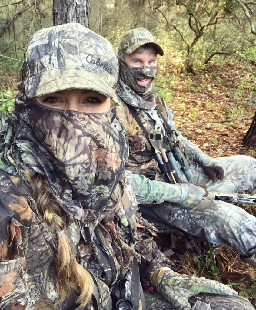Hollis Lumpkin Hunting With her Dad