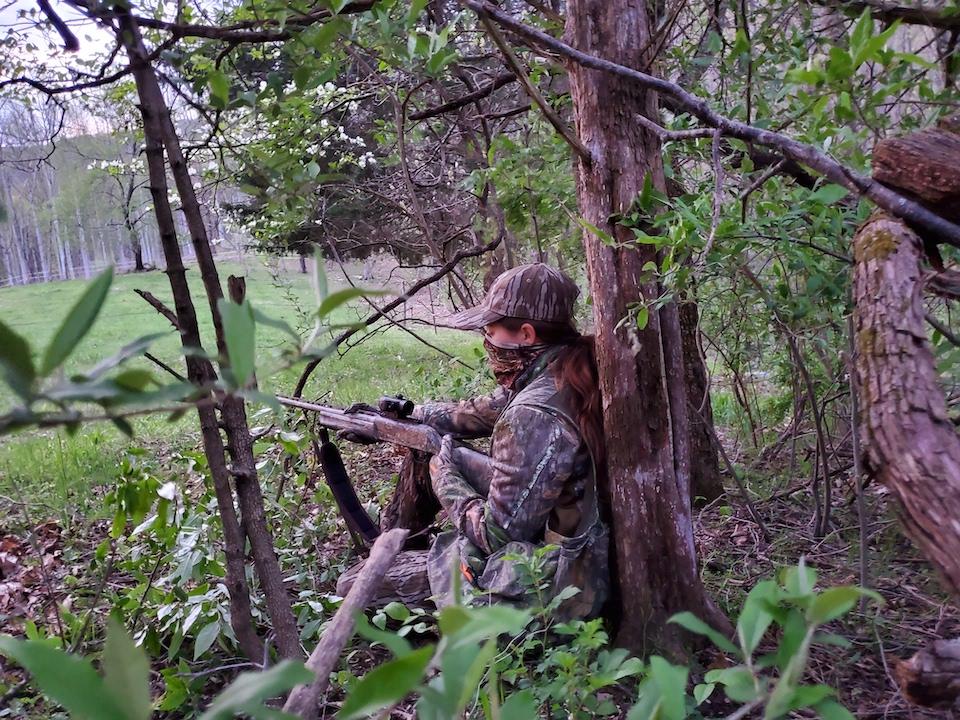 Makayla Scott Hunting AOA V3 Turkey Pro (Larry Case photo)