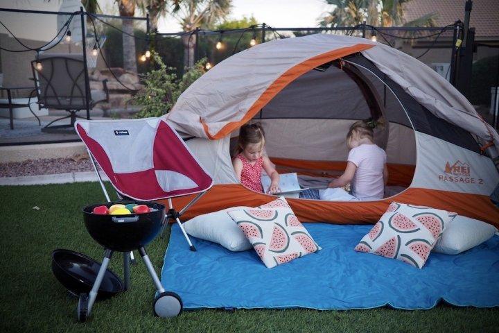 kids backyard camping Home Adventure