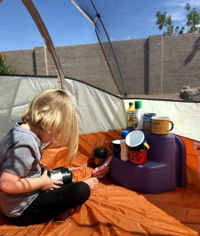 backyard tent camping Home Adventure