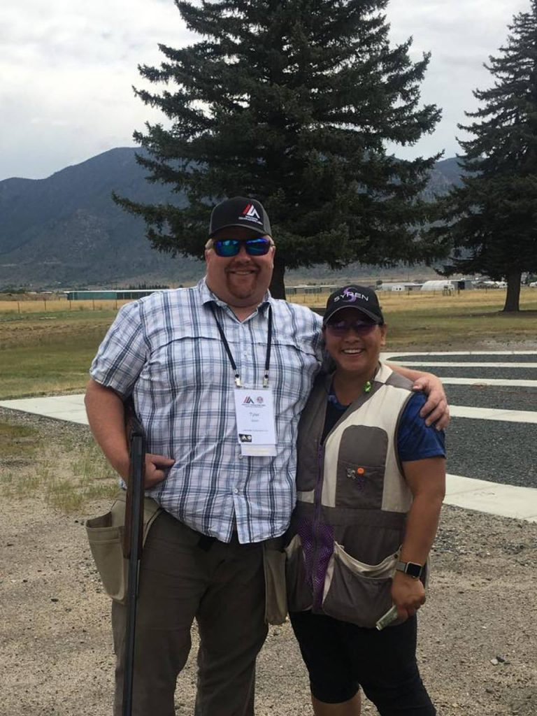 Syren Trap Shooter Emi and husband Tyler