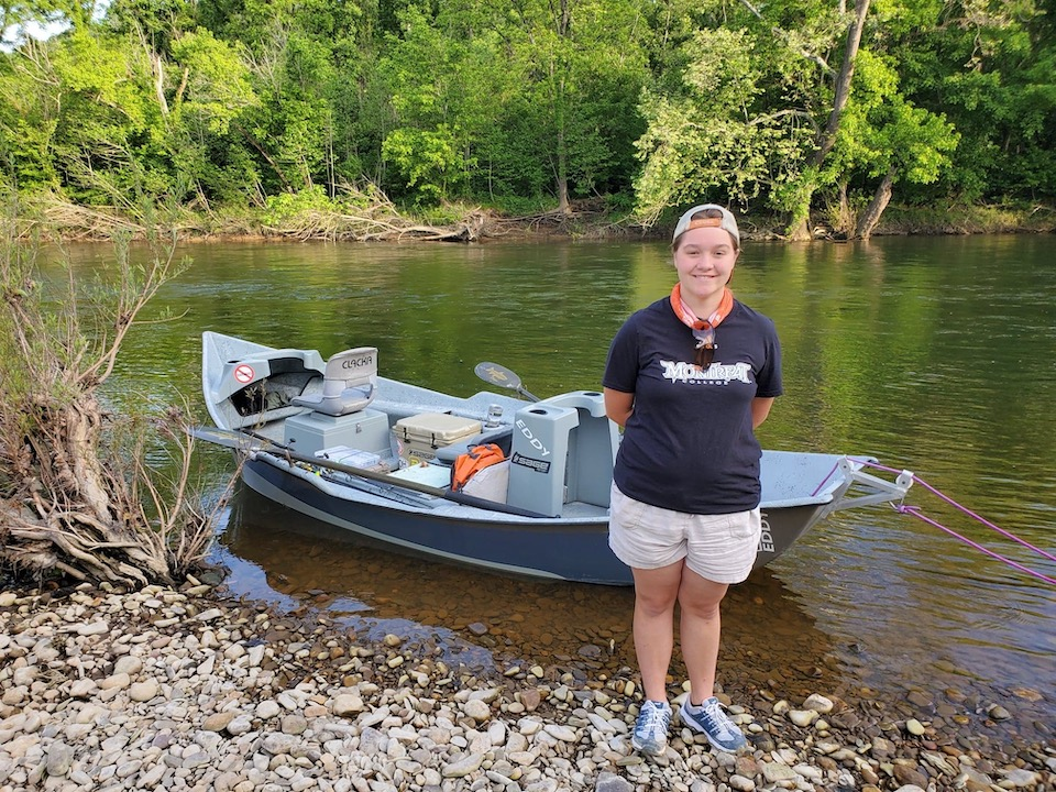 Makayla Fishing (Larry Case photo)
