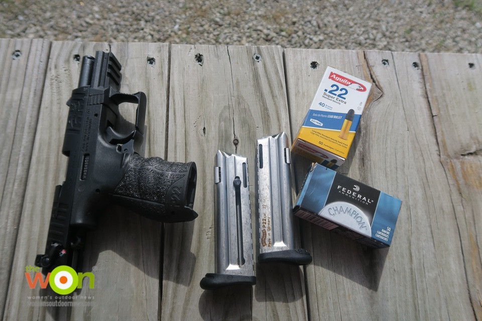 Walther P22 with ammo beginner firearm