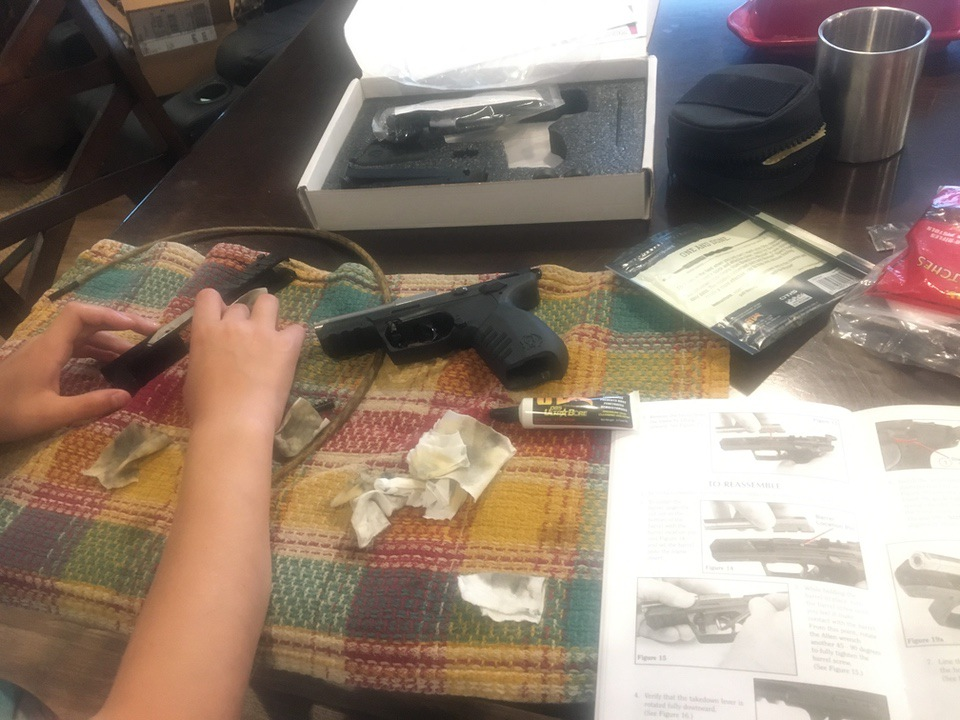 Cleaning a  firearm