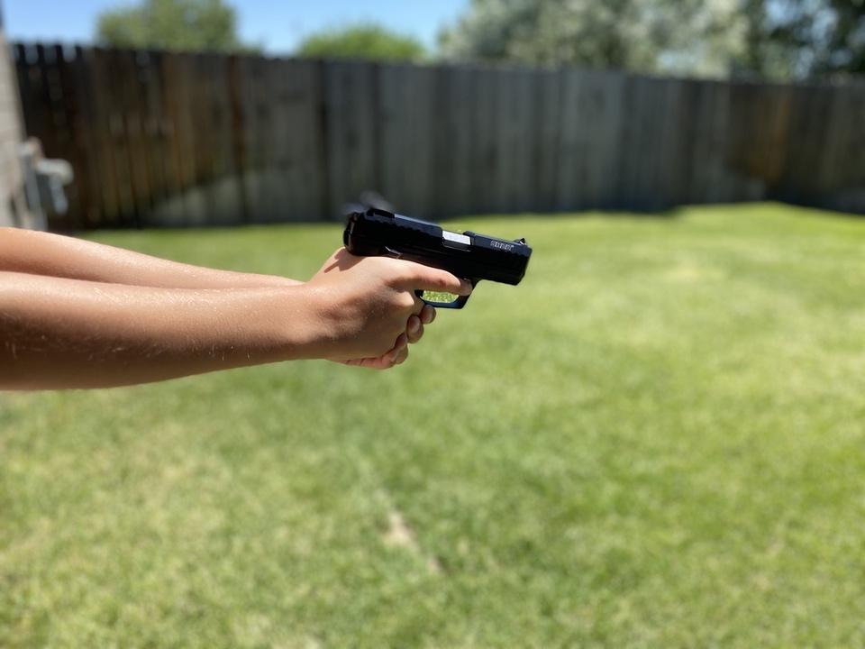 Proper pistol grip on a  firearm
