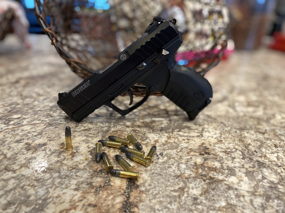 Ruger SR22 with Ammo a great Beginner Pistol