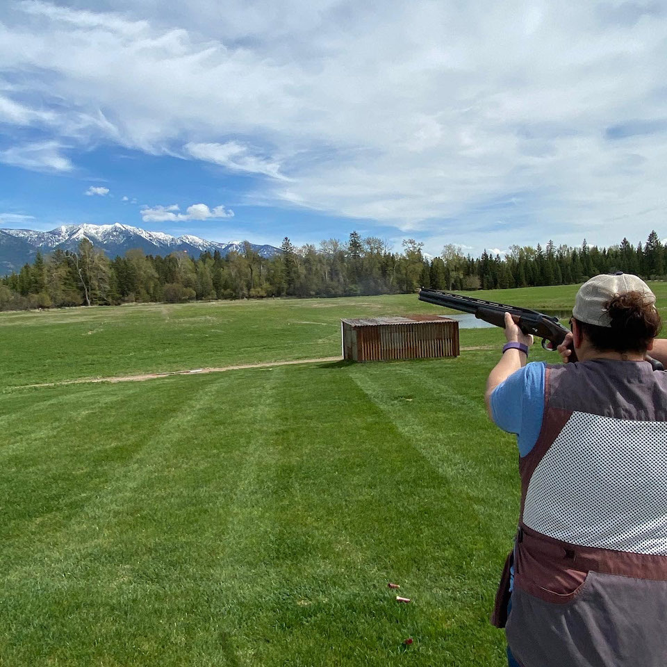 Xcel trap field and view in Montana
