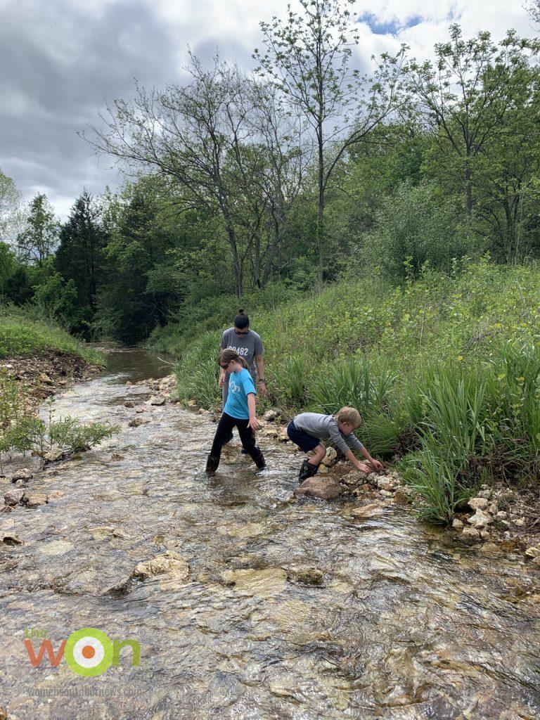 creek searching for rocks