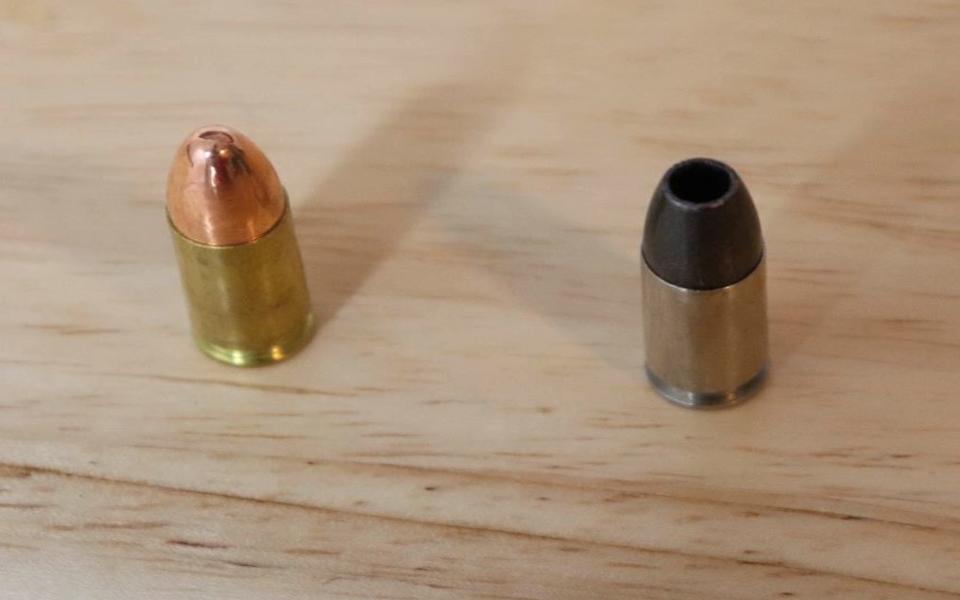 Avery Skipalis Skips Tips Full Metal Jacket pistol round vs Hollow Point pistol round