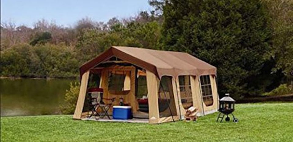 large glamping tent for camping