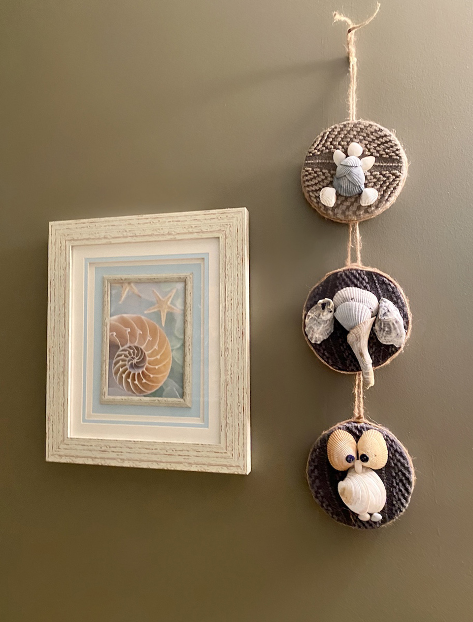 Animal Shell Art Hanging