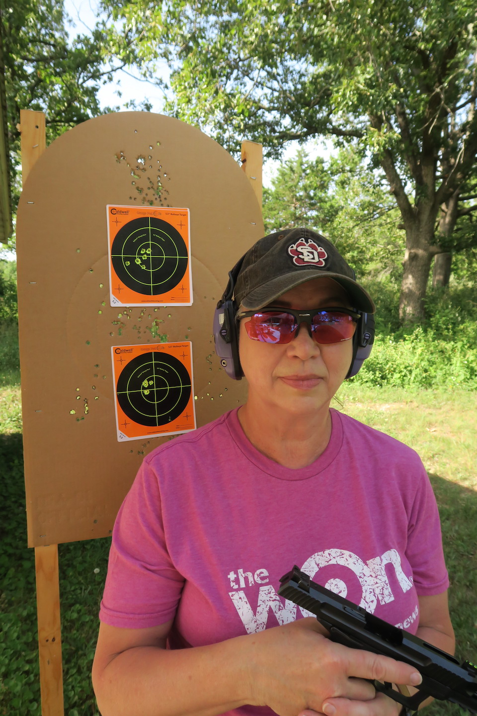 Barb on Range with Ruger-57