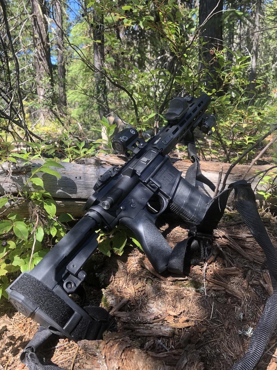 Saint Victor .308 AR-10 Pistol as a backwoods predator defense companion