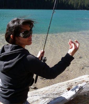 women fishing feature