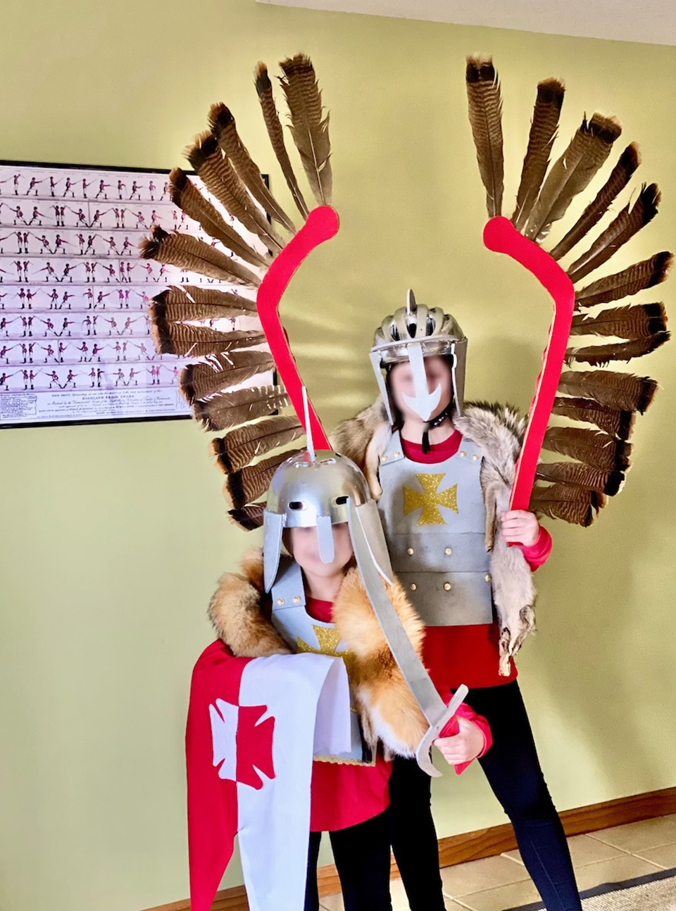 Anna and Rose as Winged Hussars