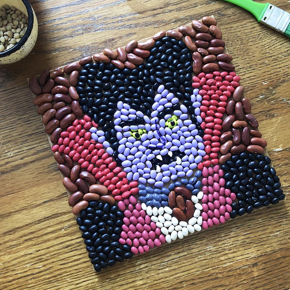 Dracula Spooky Bean Art