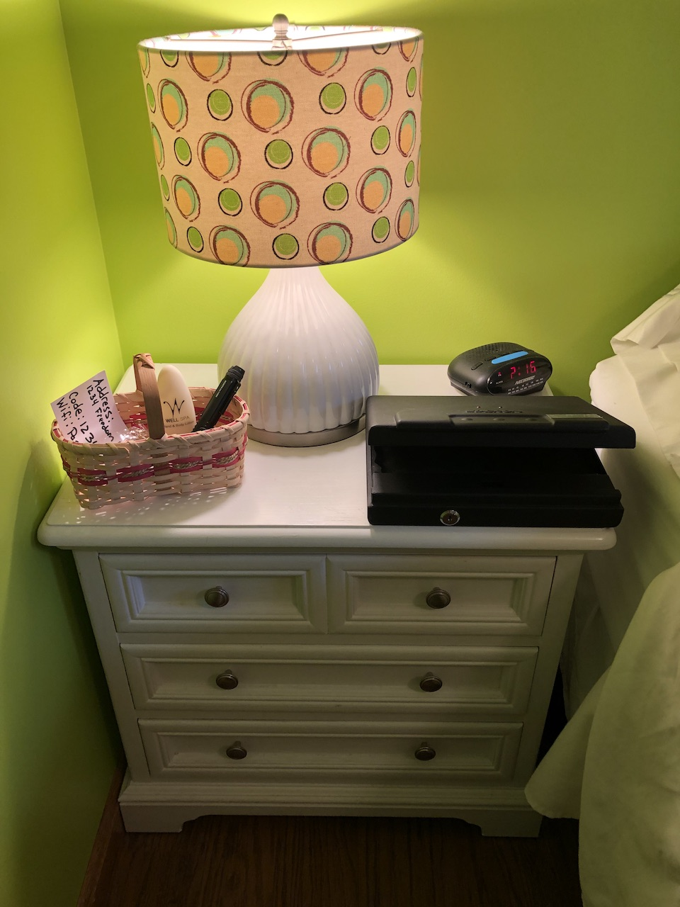Nightstand for guests