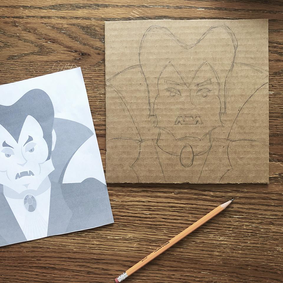 Sketching Dracula
