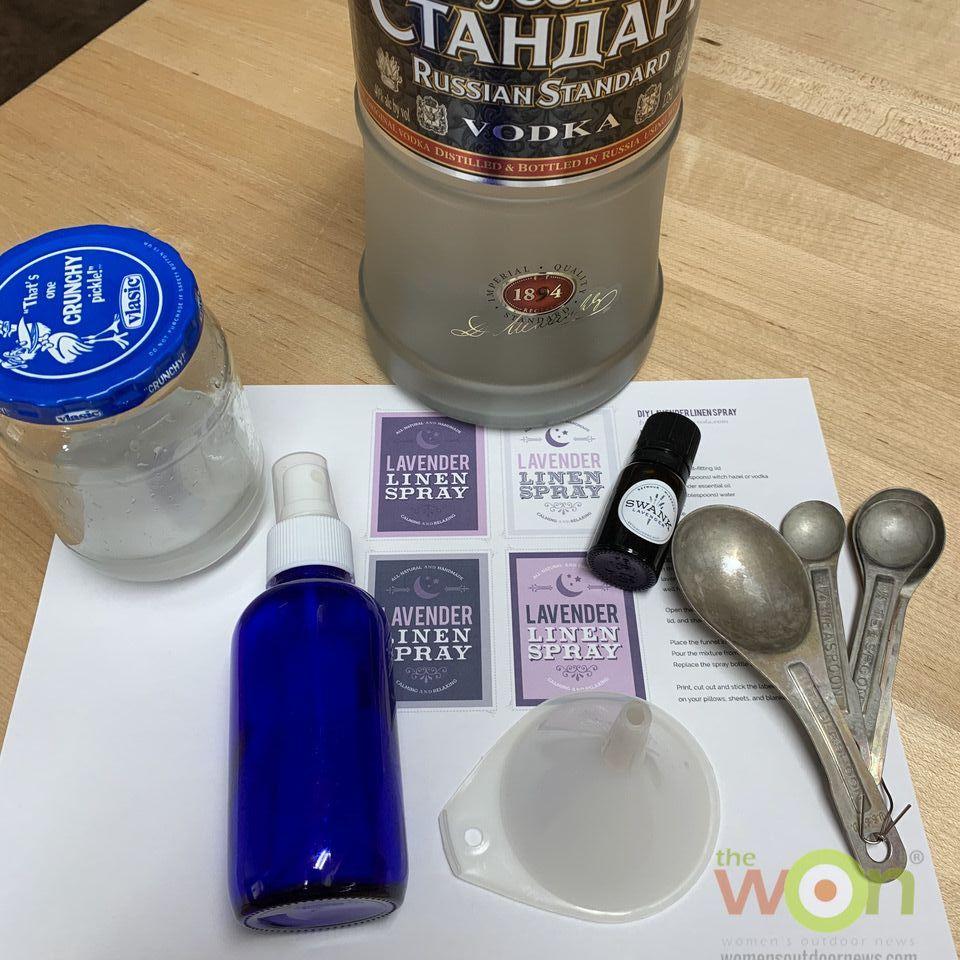 materials for lavender linen spray