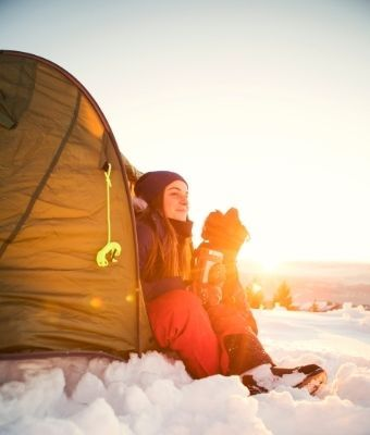 winter camping feature