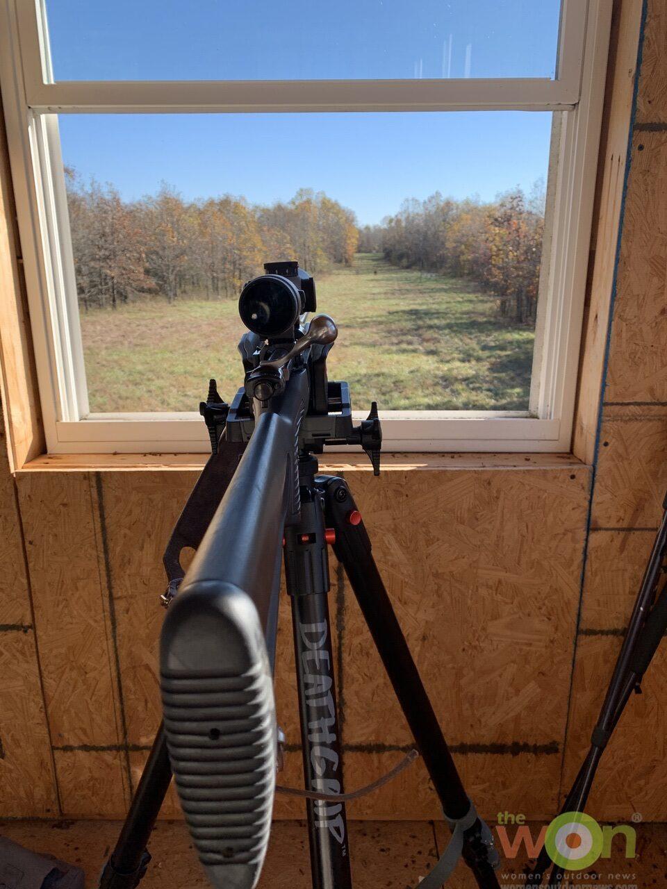 BOG DeathGrip tripod and blind window