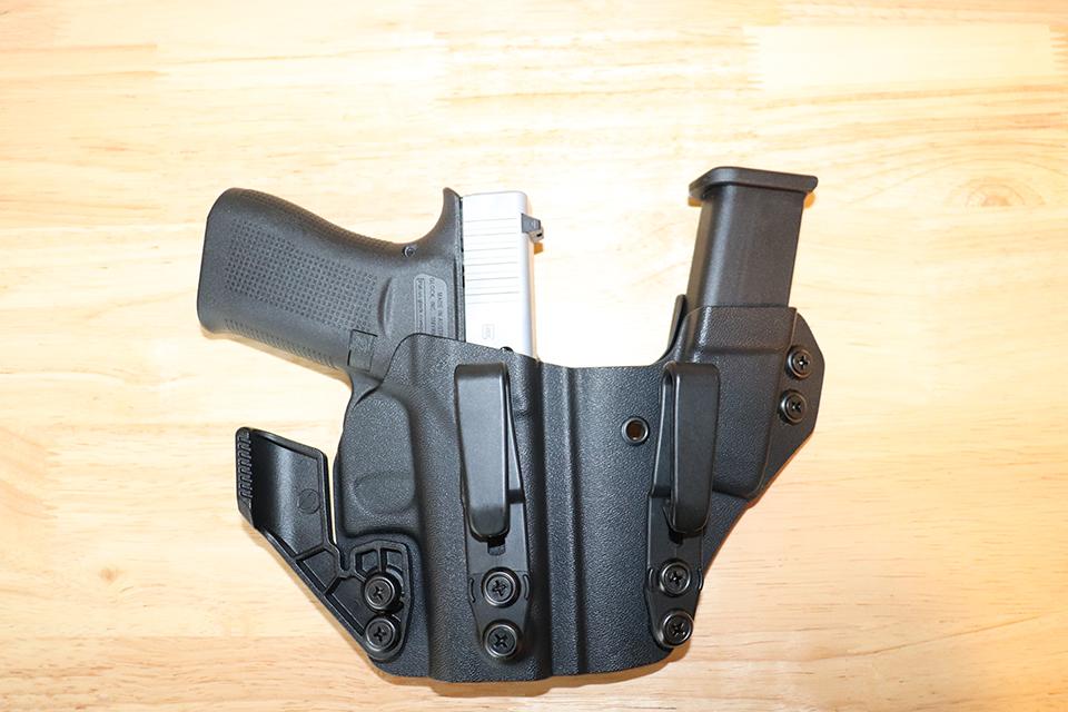 GLOCK43X inside Kydex handgun holster