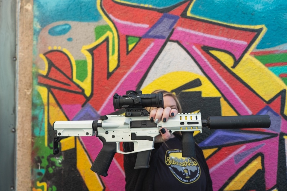 Justin Smith Photo - Suppressed Rifle Colorful