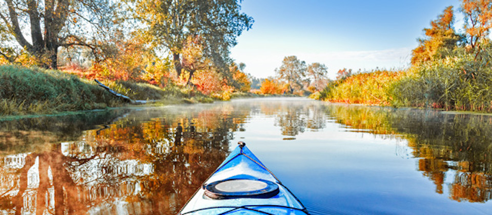kayaking in the fall from Takemefishing