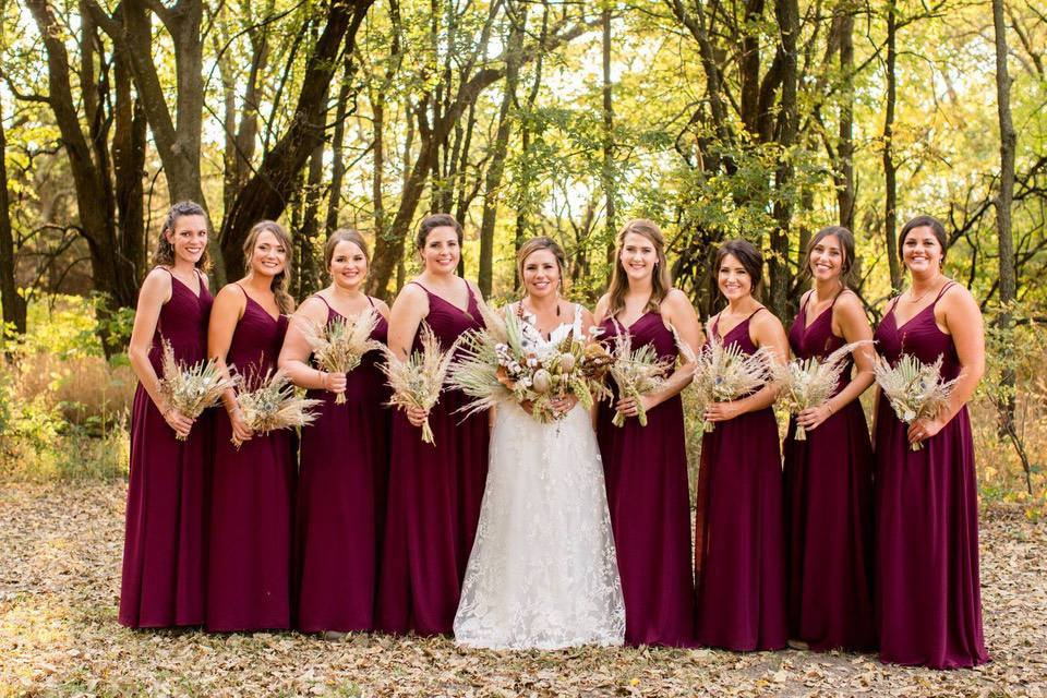 BF and bridesmaids