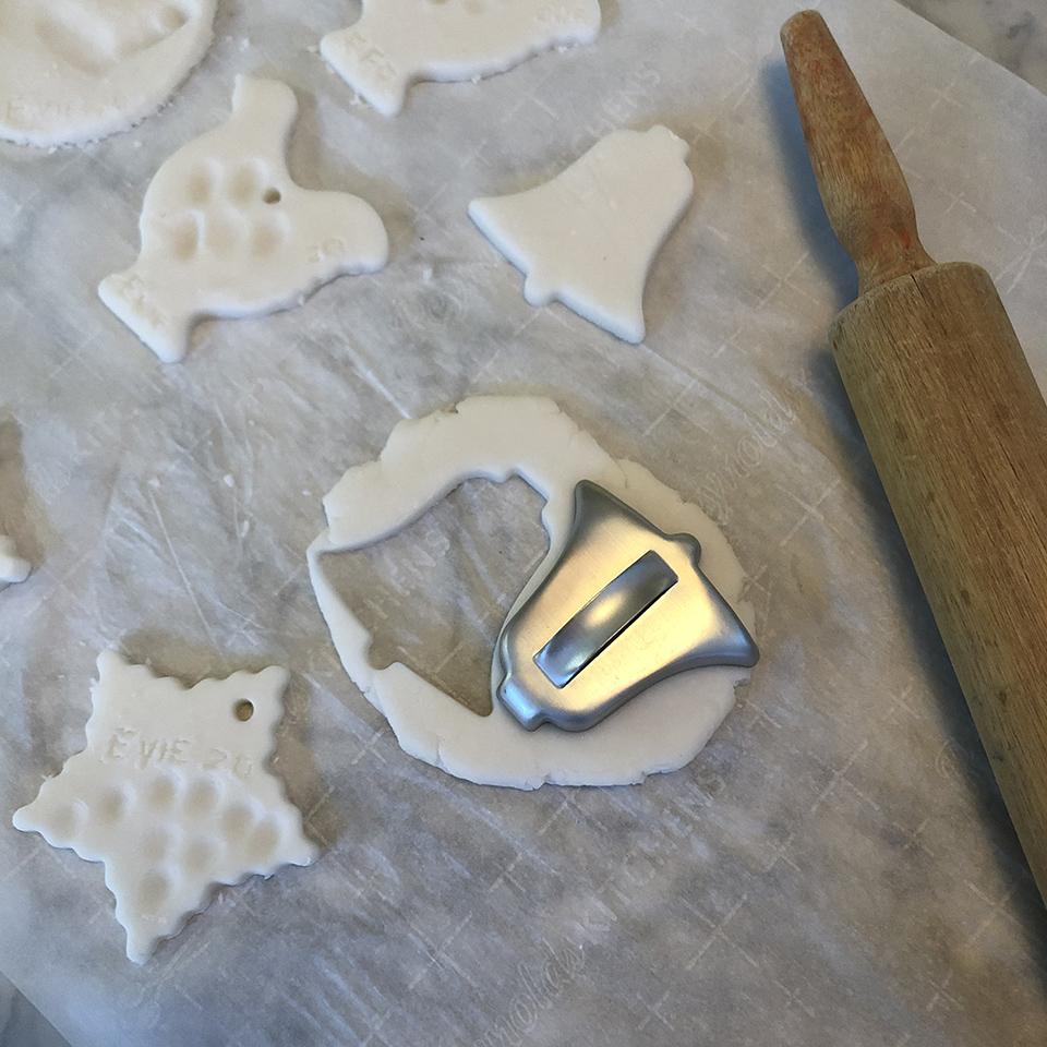 Cutting Out Salt Dough Ornaments