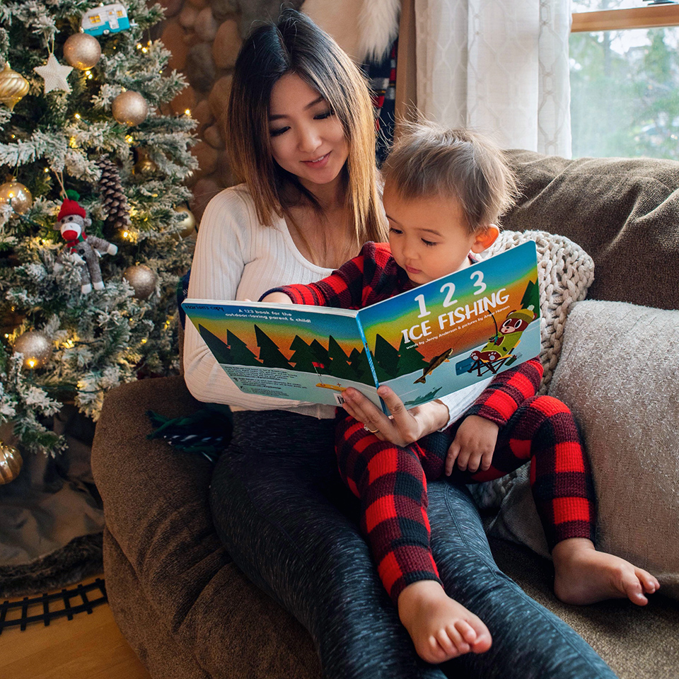 Jenny Anderson Reading to Son (Jenny Anderson Photo)