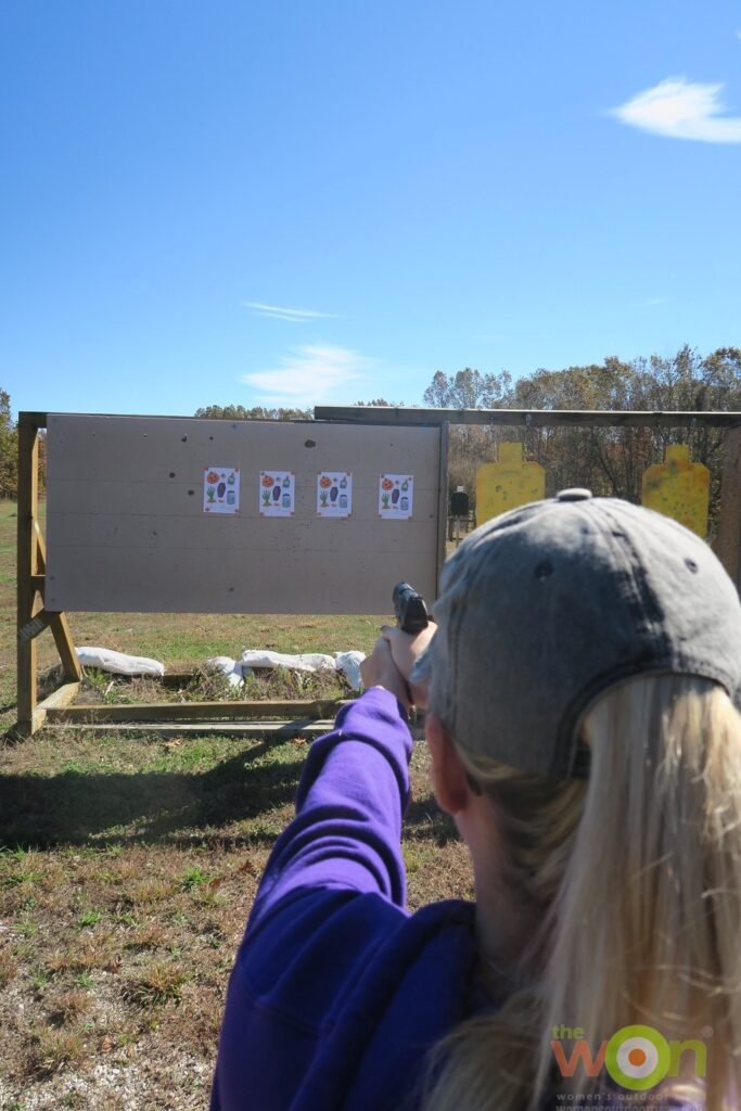 Range Gun Goddess targets airsoft pistol
