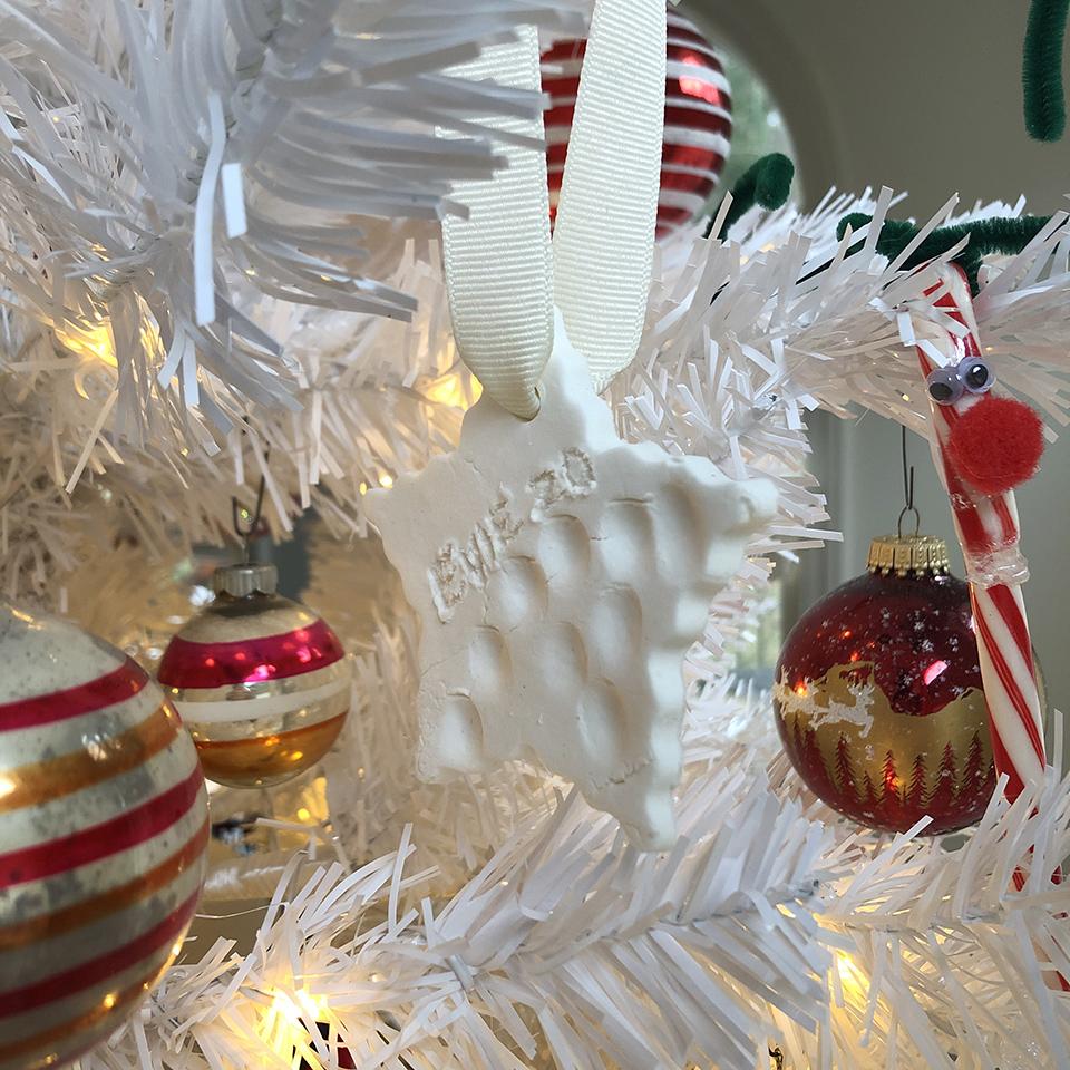 Essential Oil Salt Dough Ornament Close Up