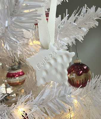 Salt Dough Ornament on Tree Feature REV
