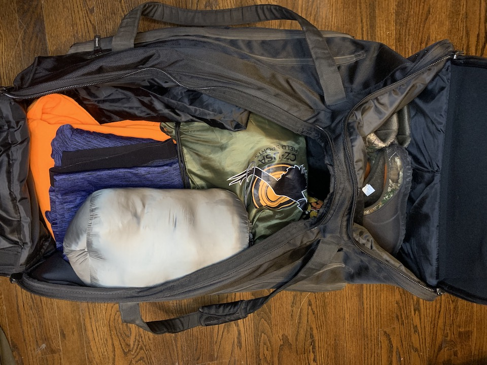 DSG Outerwear Luggage Gear Packed