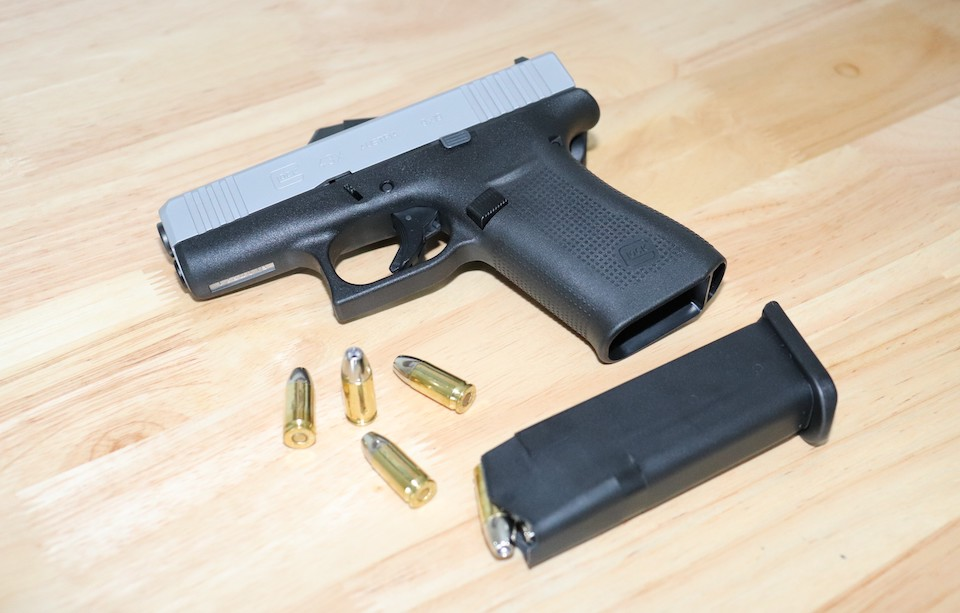 GLOCK43X with 9mm ammunition firearms
