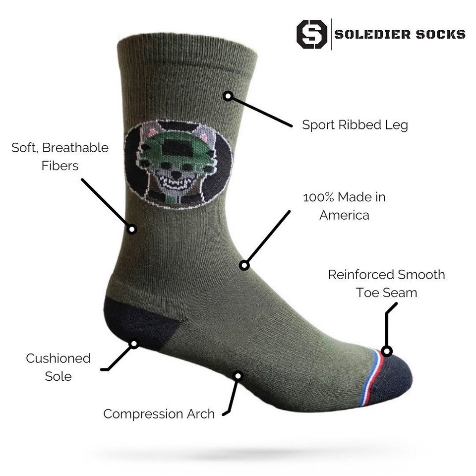 Soledier socks construction