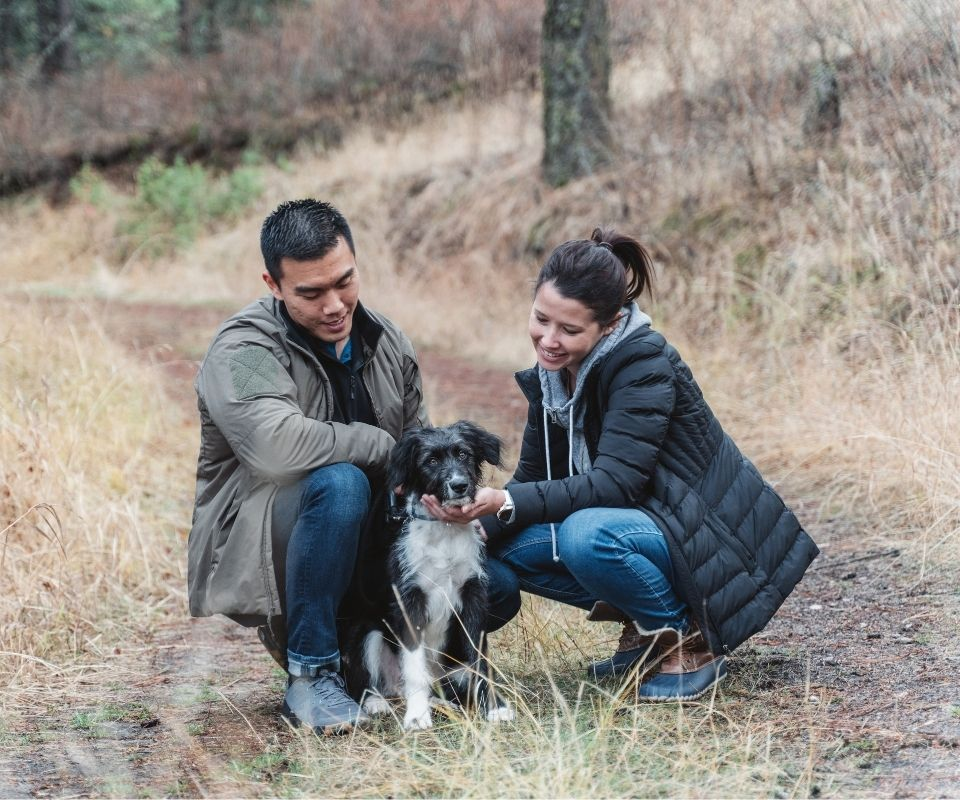 couple posing in woods Sweet Gifts for Your Sweetheart