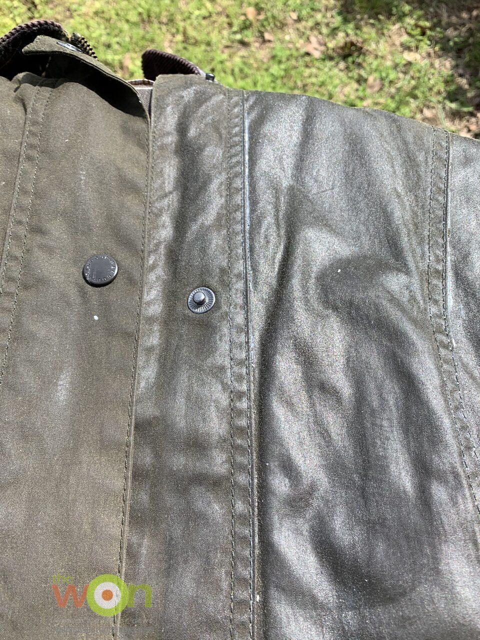 half waxed and half not waxed jacket