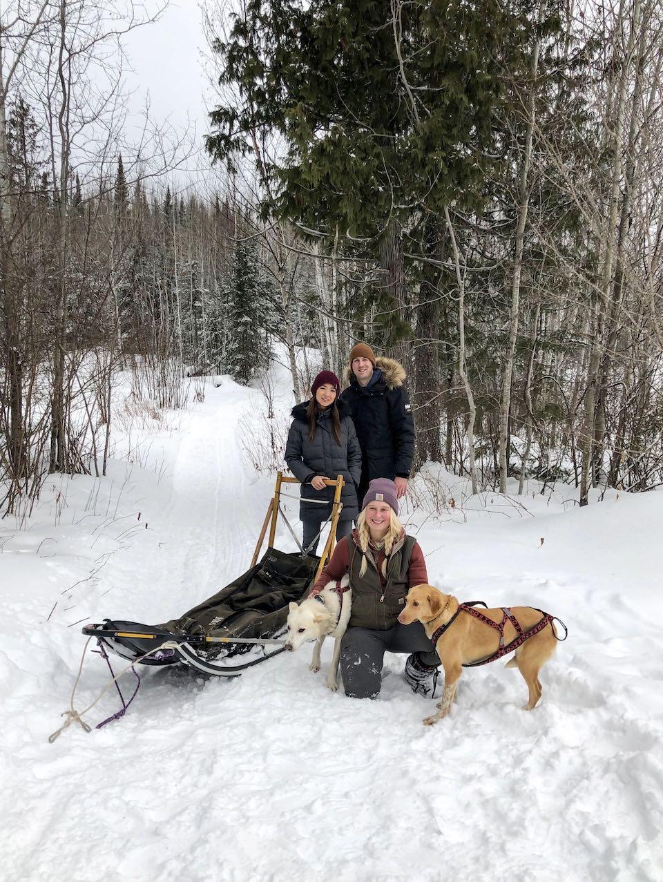 jenny nick jasmine dog sledding