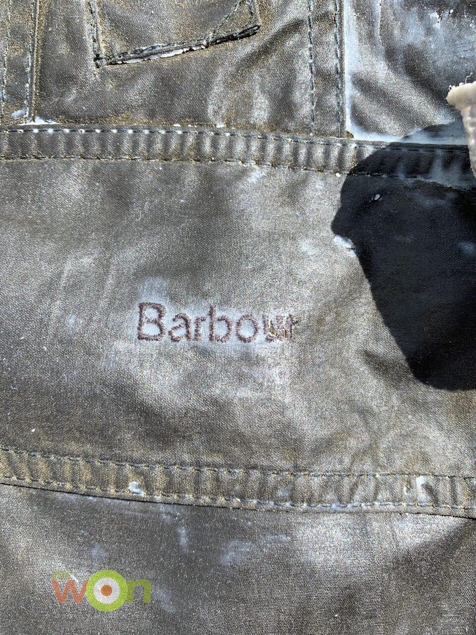 wax on jacket pocket