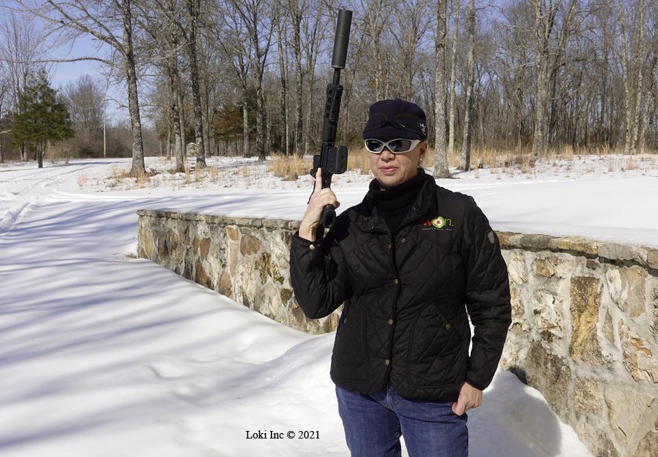 Barb carrying AR pistol
