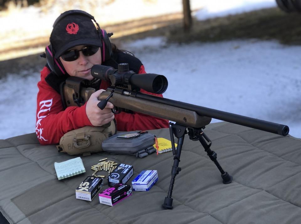 Jen Barklay shooting Ruger 22LR