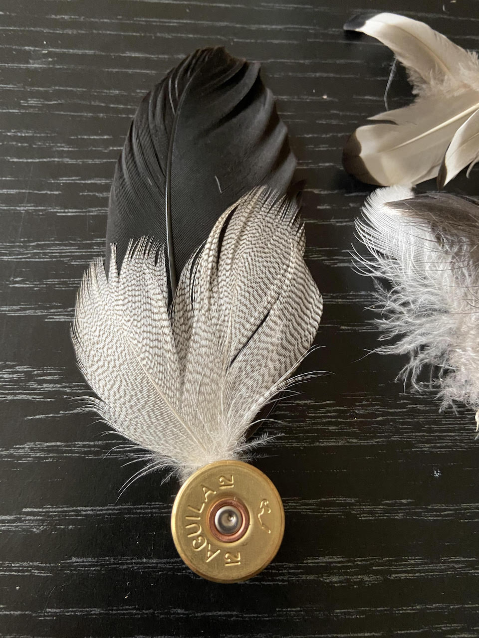 pheasant feather pendant