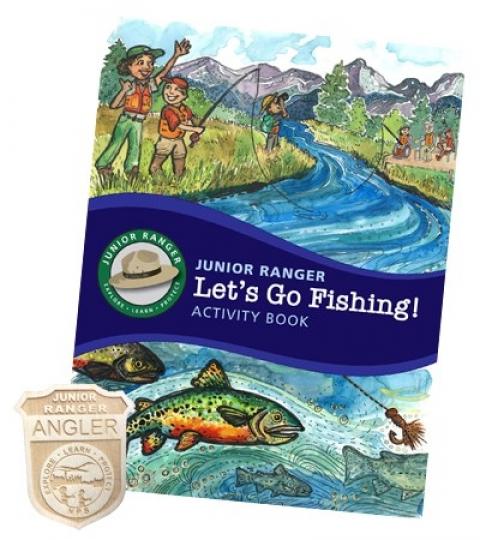 jr ranger angler booklet badge nps Hooked on Fishing in National Parks