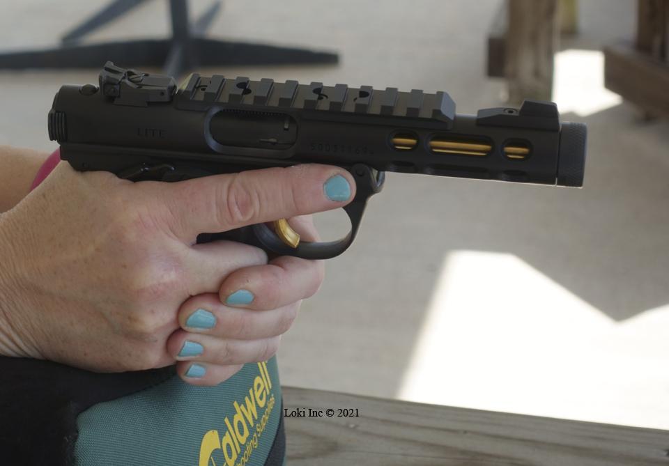 Barb shooting Ruger Mk4 Lite unsuppressed