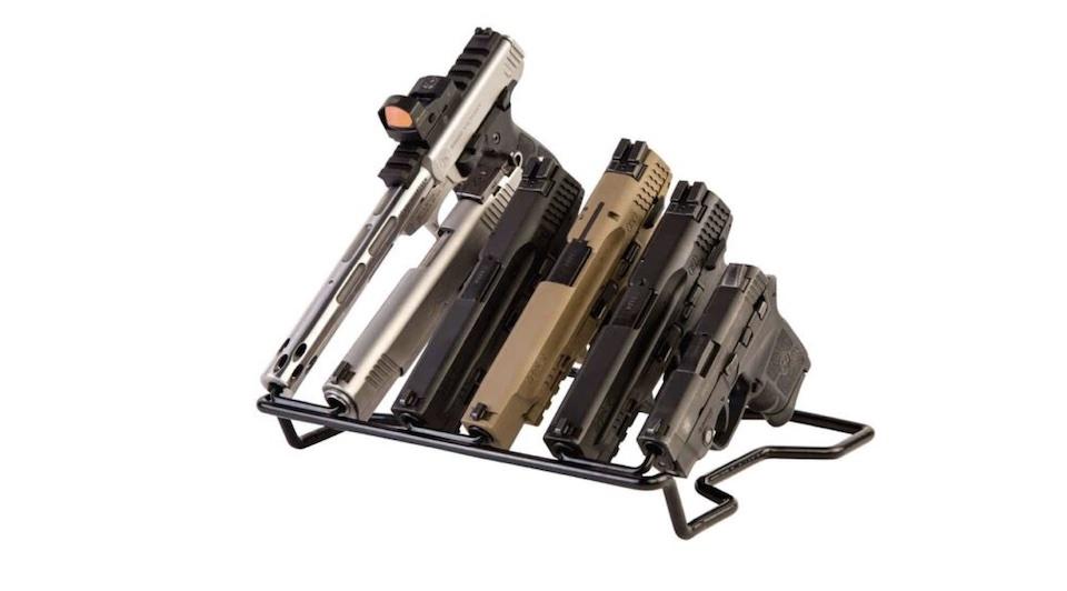 handgun rack barrel down