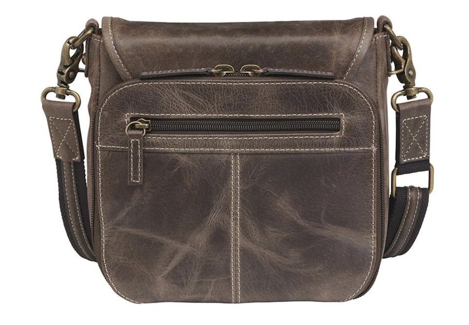 GTM:CZY-16 Simple Distressed Buffalo Pouch back